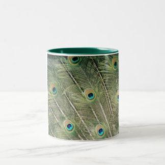 peacock Two-Tone mug