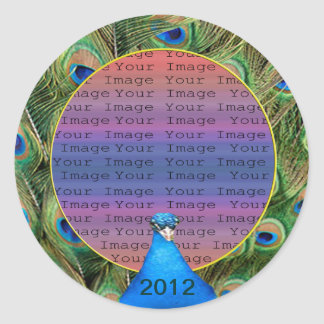 Peacock Wedding Photo Stickers