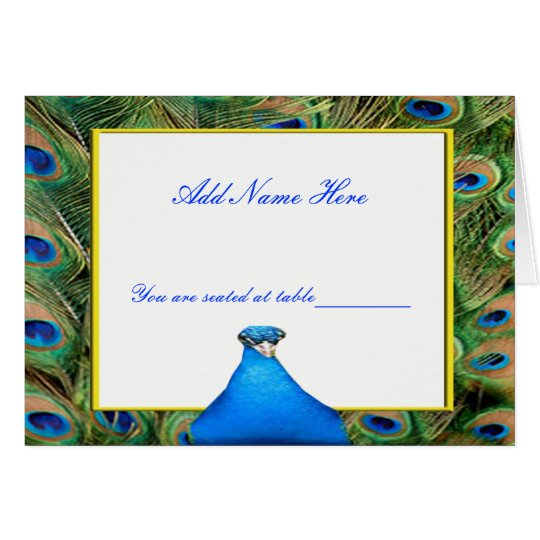Peacock Wedding Place Card