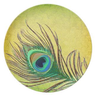 Peafowl feather plates