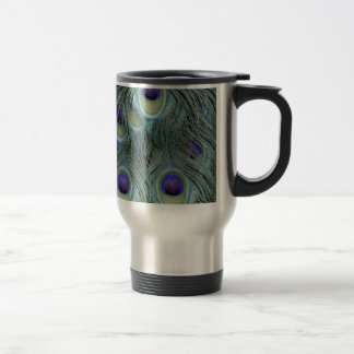 Peafowl Feathers With Big Eyes Travel Mug