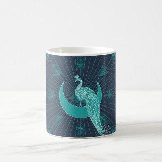 Peafowl On The Moon Coffee Mug