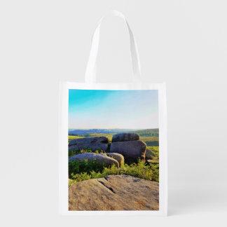 Peak district reusable grocery bag