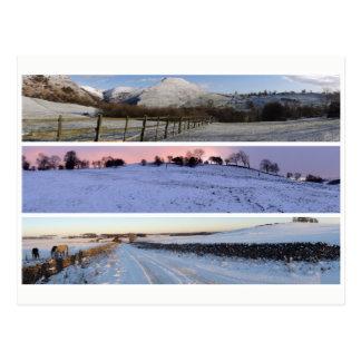 Peak District snow panoramas Postcard