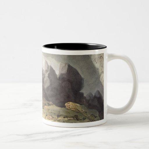 Peaks Hole, Derbyshire (colour engraving) Coffee Mug