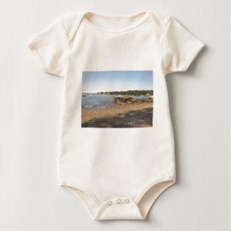 Peaks Island, ME Club Beach Baby Bodysuit