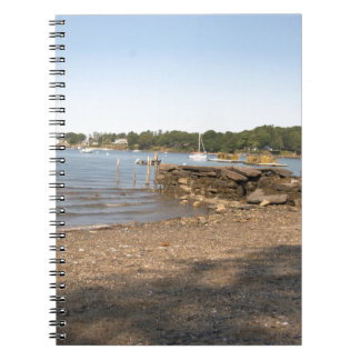 Peaks Island, ME Club Beach Spiral Notebook