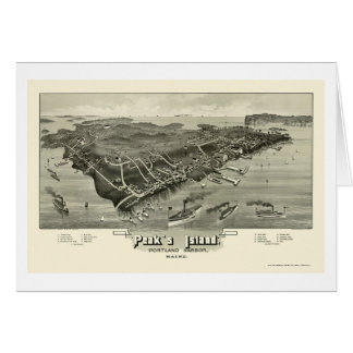 Peak's Island, ME Panoramic Map - 1886 Card