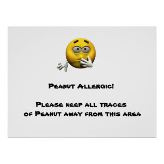 Peanut Allergic Poster