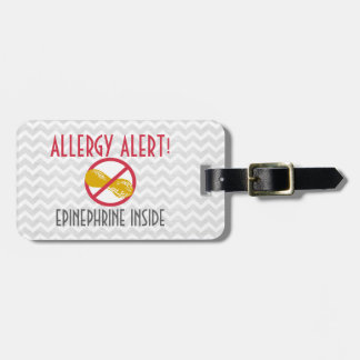 Peanut Allergy Epinephrine Inside Kids Personalize Bag Tag