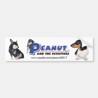 Peanut and Boogie advertising Bumper Sticker