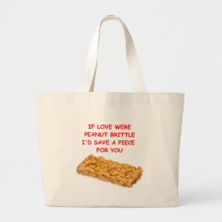 peanut brittle canvas bags