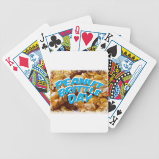Peanut Brittle Day - Appreciation Day Bicycle Playing Cards