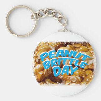 Peanut Brittle Day - Appreciation Day Key Ring