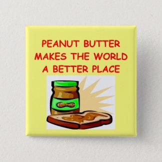 peanut butter 15 cm square badge
