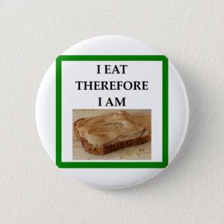 peanut butter 6 cm round badge