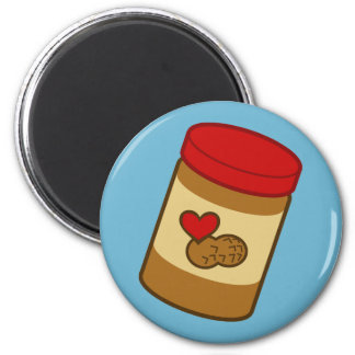 Peanut Butter 6 Cm Round Magnet