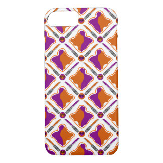 Peanut Butter and Grape Jelly Seamless Pattern iPhone 7 Case