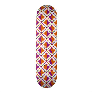 Peanut Butter and Grape Jelly Seamless Pattern Skate Board Deck