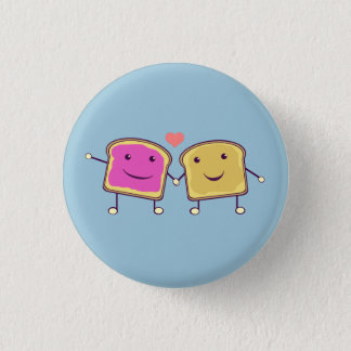 Peanut Butter and Jelly 3 Cm Round Badge