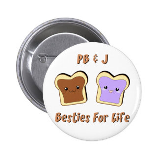 Peanut Butter and Jelly 6 Cm Round Badge