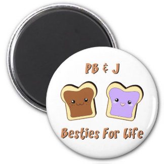 Peanut Butter and Jelly 6 Cm Round Magnet