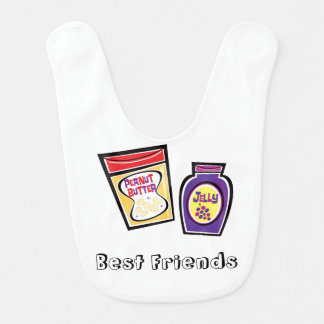 Peanut Butter and Jelly Bff Baby Bib
