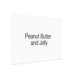 Peanut Butter and Jelly Gallery Wrap Canvas