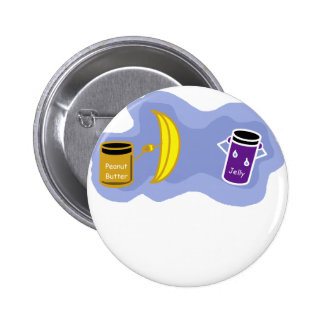 Peanut Butter and Jelly Color png Pinback Buttons
