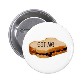 "Peanut Butter and Jelly ""EAT ME"" SANDWICH PRINT Buttons"