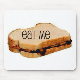 Peanut Butter and Jelly EAT ME SANDWICH PRINT Mouse Pads