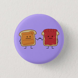 Peanut Butter and Jelly Fist Bump friends toast 3 Cm Round Badge