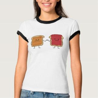 Peanut Butter and Jelly Fist Bump friends toast T-Shirt