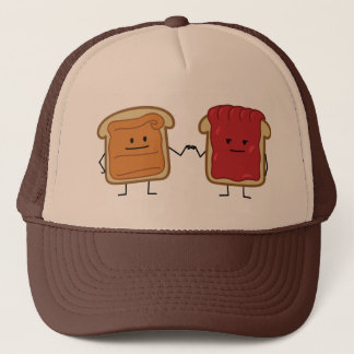Peanut Butter and Jelly Fist Bump friends toast Trucker Hat