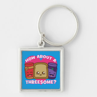 Peanut Butter and Jelly - How About A Threesome? Key Ring