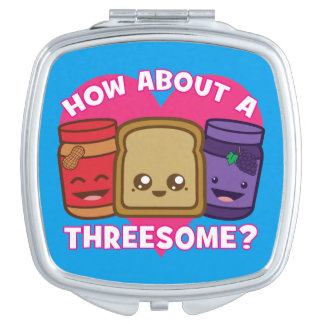 Peanut Butter and Jelly - How About A Threesome? Travel Mirrors