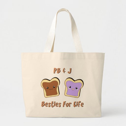 Peanut Butter and Jelly Jumbo Tote Bag