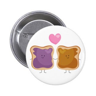 Peanut Butter and Jelly Love Button