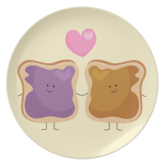 Peanut Butter and Jelly Love Plate