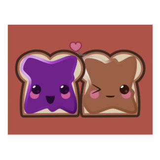 Peanut Butter and Jelly Love Postcard