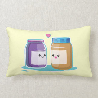 Peanut Butter and Jelly Lumbar Pillow