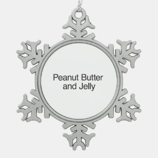 Peanut Butter and Jelly Pewter Snowflake Decoration