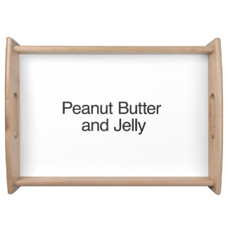 Peanut Butter and Jelly Serving Platter