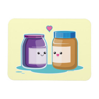 Peanut Butter and Jelly Rectangular Photo Magnet
