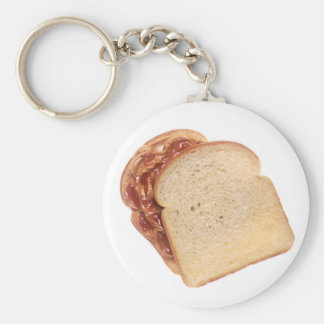 Peanut Butter and Jelly Sandwich Basic Round Button Key Ring