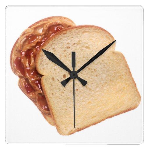 Peanut Butter and Jelly Sandwich Wallclock