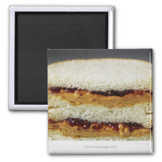 Peanut butter and jelly sandwich. fridge magnets