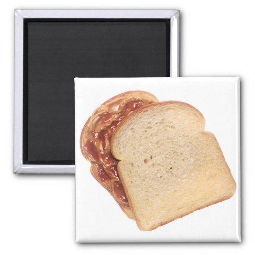 Peanut Butter and Jelly Sandwich Fridge Magnet