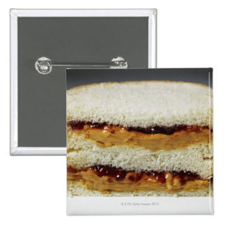Peanut butter and jelly sandwich pinback buttons