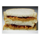 Peanut butter and jelly sandwich. postcard
